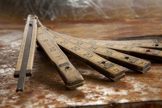 Vintage measuring rule