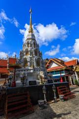 Wat Klang Wiang temple, ChiangRai at sunny day