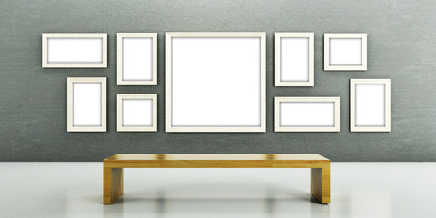 Galerie, Bilder, Rahmen, Atelier