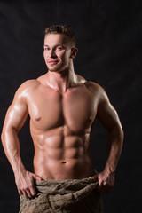 Bodybuilder in a bag