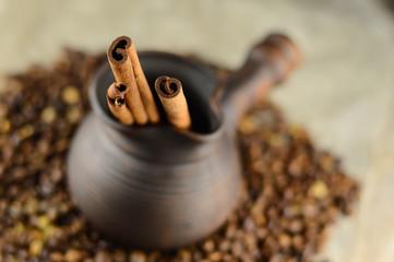 clay Turk with cinnamon sticks