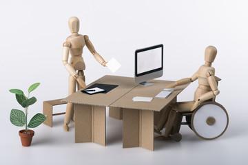 Integration, Behindertenarbeitsplatz