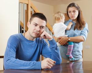 Family quarrel at home