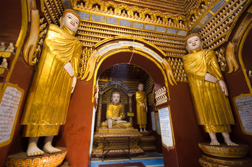 Ancient Buddha images in Myanmar