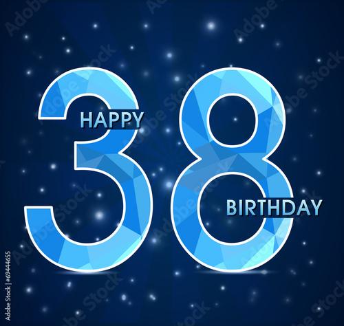 Поздравление с днем рожденья 38 лет