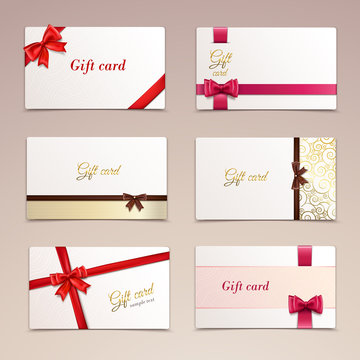 Gift cards set