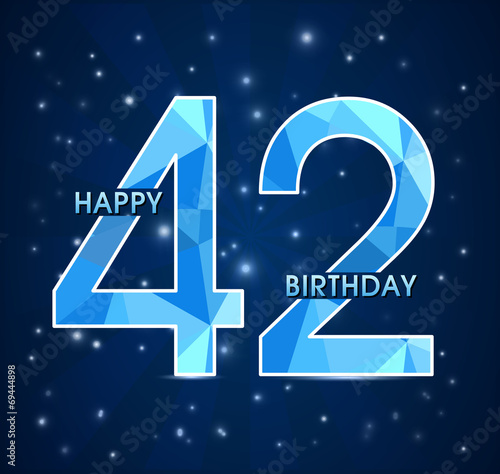 Поздравление с днем рождения 42 мужчине