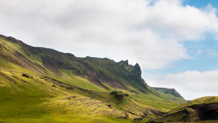 Paysage Campagne montagnes islandais Islande