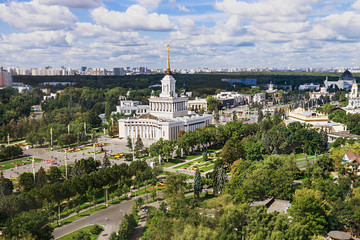 """view from the heights to the central pavilion """"Russia"""" and the A"""