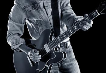 Wall Mural - playing rhythm & blues guitar
