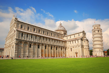 Piazza dei Miracoli Complex and Leaning tower of Pisa, Italy