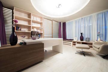 office room interior desk armchair