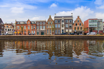 Haarlem, Netherlands. Typical urban view with old buildings