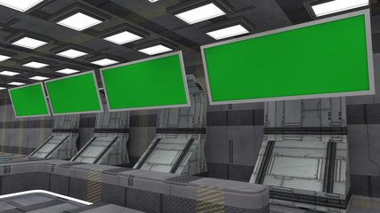 Futuristic green screen