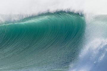 Autocollant pour porte Eau Wave Curl Wall Water Crashing Power