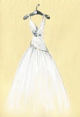 art sketch of beautiful dress