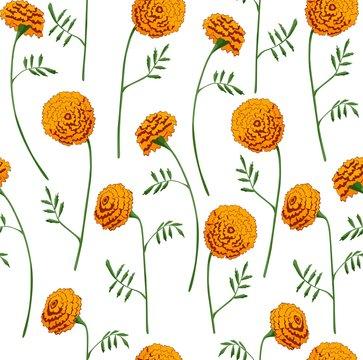 Marigold pattern seamless