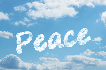 peace word on cloud