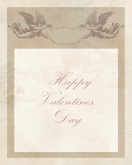Happy valentines day vintage card