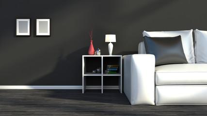 Black and white interior color