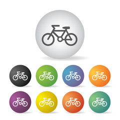 Wall Mural - bicycle icon set