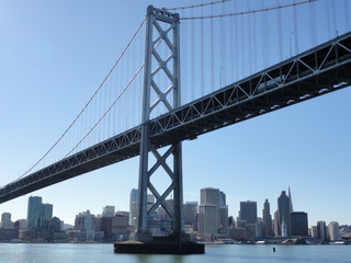 Bay Bridge and San Francisco Cityscape