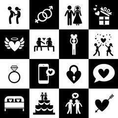 Valentine's day and wedding symbol