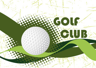 Abstract golf club banner