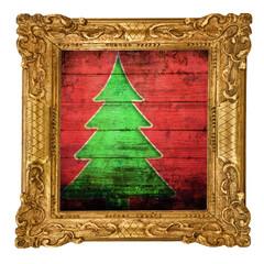 albero di Natale in cornice