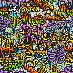 Graffiti word seamless pattern