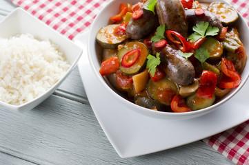 Spicy Sausage Casserole