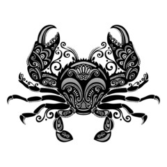 Vector Sea Crab. Patterned design