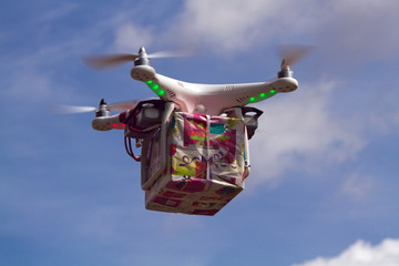 Drone - UAV - Delivery Gift by air