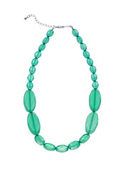 green necklace isolated on white