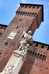 St. Giovanni Nepocedemo Statue im Castello Sforzesco, Mailand