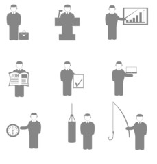 silhouette success in various activities manager