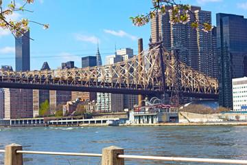 Queensboro Bridge, East River and Manhattan buildings