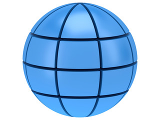Stylized Earth planet globe 3d icon
