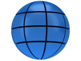 Stylized Earth planet globe 3d icon