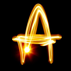 Created by light alphabet