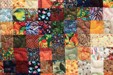 Part of homemade patchwork Fototapete