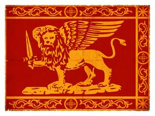 Grunge-Flagge von Venedig (italien)