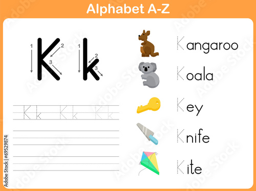 Alphabet Tracing Worksheet Writing AZ image and royalty – Alphabet Tracing Worksheets A-z