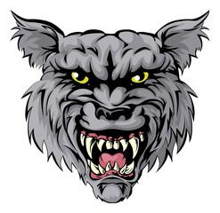 Wolf mascot character