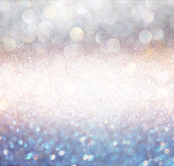 bokeh lights background with multi layers and colors of white si