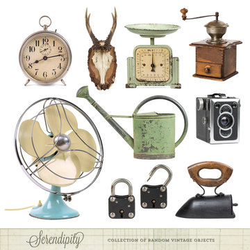 collection of random vintage objects