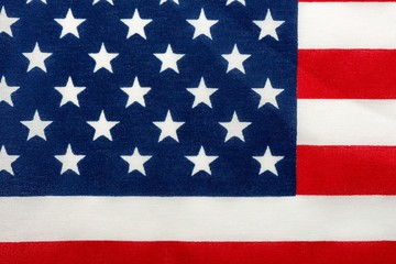 American Flag Close Up