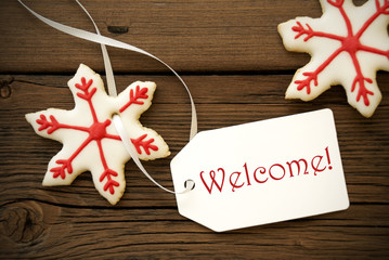 Christmas Cookies with Welcome Label