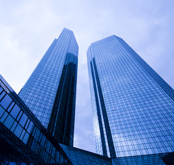 Glass skyscrapers,business center