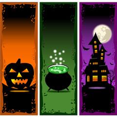 Halloween Banners Vector Set 2